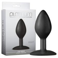 Doc Johnson Platinum - közepes anál dildó (fekete) műpénisz, dildó