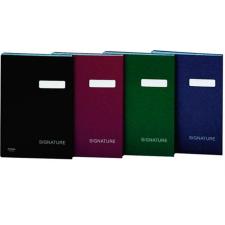 DONAU Aláírókönyv, A4, 19 elválasztó lappal, karton, , sötétkék aláírókönyv