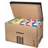 DONAU Archiváló konténer, felfelé nyíló, DONAU, barna (D76653N)