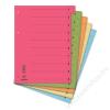 DONAU Elválasztó lap, karton, A4, mikroperforált, DONAU, citromsárga (D8611S)