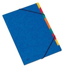 DONAU Gumis mappa, karton, A4, regiszteres, 9 részes, DONAU, kék mappa