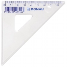 DONAU Háromszög vonalzó, műanyag, 45°, 8,5 cm, DONAU vonalzó