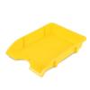 "DONAU Irattálca, műanyag, törhetetlen,  ""Solid"", sárga"