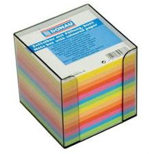 DONAU Kockatömb, 89x89x85 mm, adagolóval, DONAU, színes jegyzettömb
