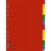 DONAU műanyag színes regiszter, 1-10