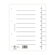 DONAU Regiszter, karton, A4, fehér regiszter és tartozékai