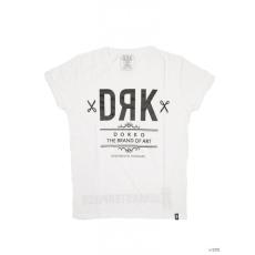 Dorko Unisex Rövid ujjú T Shirt WHITE DRK FRONT TEE