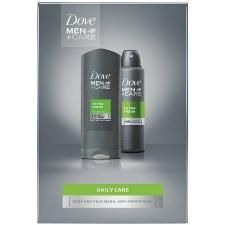 DOVE ajándékcsomag Men Extra Fresh tusfürdő 250ml+deo spray 150ml kozmetikai ajándékcsomag