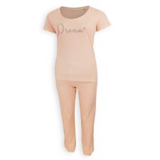 Dressa Dream női rövid ujjú pamut pizsama - barack hálóing, pizsama