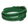 DSE Il MEZZOMETRO -  I LOVE YOU - SILVER - szilikon karkötő, sötétzöld színben