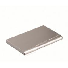 DURABLE Névjegykártyatartó tárca, fém, 20 db-os, , matt ezüst irodai kellék