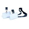 DURABLE Névkitűző textil szalaggal 54x90 mm 10db/csom DURABLE Click Fold