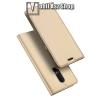 DUX DUCIS slim design notesz / mappa tok - ARANY - oldalra nyíló flip cover, asztali tartó funkció, szilikon belső, mágneses záródás - OnePlus 6 - GYÁRI