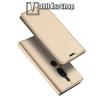 DUX DUCIS slim design notesz / mappa tok - ARANY - oldalra nyíló flip cover, asztali tartó funkció, szilikon belső - SONY Xperia XZ2 Premium (2018) - GYÁRI