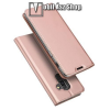 DUX DUCIS slim design notesz / mappa tok - ROSE GOLD - oldalra nyíló flip cover, asztali tartó funkció, szilikon belső, mágneses záródás - SAMSUNG Galaxy J8 (2018) - GYÁRI