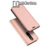 DUX DUCIS slim design notesz / mappa tok - ROSE GOLD - oldalra nyíló flip cover, asztali tartó funkció, szilikon belső - NOKIA X6 (2018) - GYÁRI