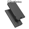 DUX DUCIS slim design notesz / mappa tok - SÖTÉT SZÜRKE - oldalra nyíló flip cover, asztali tartó funkció, szilikon belső, mágneses záródás - SAMSUNG Galaxy J8 (2018) - GYÁRI
