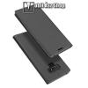 DUX DUCIS slim design notesz / mappa tok - SÖTÉT SZÜRKE - oldalra nyíló flip cover, asztali tartó funkció, szilikon belső, mágneses záródás - SAMSUNG Galaxy Note9 - GYÁRI