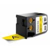 Dymo 1868774, 41mm x 7m, fekete nyomtatás / sárga alapon, eredeti alapon
