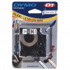 Dymo D1 16957, S0718040, 12mm x 3,5 m, fekete nyomtatás / fehér alapon, eredeti szalag