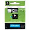 Dymo D1 40910, S0720670, 9mm x 7m, fekete nyomtatás / átlátszó alapon, eredeti szalag