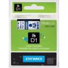 Dymo D1 45804, S0720840, 19mm x 7m, kék nyomtatás / fehér alapon, eredeti szalag