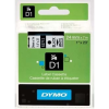 Dymo D1 53713, S0720930, 24mm x 7m fekete nyomtatás / fehér alapon, eredeti szalag