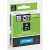 """DYMO Feliratozógép szalag, 12 mm x 7 m, DYMO """"D1"""", víztiszta-fekete"""
