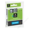 DYMO Feliratozógép szalag, 12 mm x 7 m, DYMO D1, víztiszta-kék (GD45011)