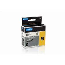 """DYMO Feliratozógéphez, zsugorcső, 12 mm x 1,5 m, DYMO """"Rhino"""", sárga-fekete irodai kellék"""