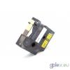DYMO ID1 18432 12mm * 5mm sárga alapon fekete ipari vinyl feliratozószalag kazetta