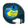 DYMO Műanyag szalag -S0721570/59423- SÁRGA LETRATAG DYMO