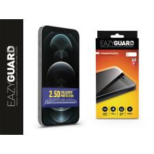 Eazyguard Apple iPhone 12/12 Pro gyémántüveg képernyővédő fólia - Diamond Glass 2.5D Fullcover - fekete mobiltelefon kellék