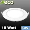 ECO LED panel (kör alakú) 18 Watt - hideg fehér