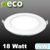 ECO LED panel (kör alakú) 18 Watt - természetes fehér fényű