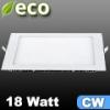 ECO LED panel (négyzet alakú) 18 Watt - hideg fehér