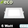 ECO LED panel (négyzet alakú) 6 Watt - természetes fehér fényű