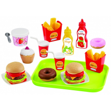 Ecoiffier Fast food szett 25 db-os kreatív és készségfejlesztő