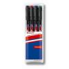 """EDDING Alkoholos marker készlet, OHP, 0,6 mm, EDDING """"141 F"""", 4 különböző szín"""