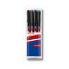 """EDDING Alkoholos marker készlet, OHP, 1 mm, EDDING """"142 M"""", 4 különbözo szín (4 db)"""