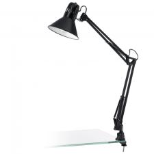 EGLO 90873 FIRMO íróasztali lámpa, fényes fekete színben, MAX 1X40W teljesítménnyel, E27-es foglalattal, billenő kapcsolóval, IP20 védettséggel ( EGLO 90873 ) világítás