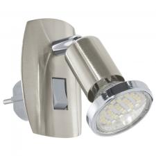 EGLO 92924 MINI 4 LED konnektorlámpa, matt nikkel, króm színben, MAX 1X3W teljesítménnyel, GU10 foglalattal, 3000K színhőmérséklettel, billenő kapcsolóval, IP20 védettséggel ( EGLO 92924 ) világítás