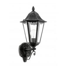 EGLO 93457 NAVEDO kültéri fali lámpa, fekete, ezüst-patina színben, MAX 1X60W teljesítménnyel, E27-es foglalattal, kapcsoló nélkül, IP44 védettséggel ( EGLO 93457 ) kültéri világítás