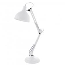 EGLO 94699 BORGILLIO íróasztali lámpa, fehér színben, MAX 1X40W teljesítménnyel, E27-es foglalattal, zsinórkapcsolóval, IP20 védettséggel ( EGLO 94699 ) világítás