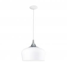 EGLO 95384 OBREGON függeszték, fehér, króm színben, MAX 1X60W teljesítménnyel, E27-es foglalattal, kapcsoló nélkül, IP20 védettséggel ( EGLO 95384 ) világítás