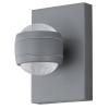EGLO Kültéri LED-es fali 2x3,7W ezüst Sesimba