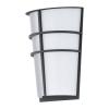 EGLO LED-es kültéri fali 2x2,5W IP44 antracit/fehér Breganzo