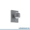 EGLO Sesimba 1 - 96019 - kültéri falra szerelhető lámpa, ezüst, beépített LED, IP44, 195 mm magas, mozgásérzékelős