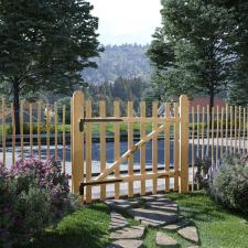 Egyajtós mogyorófa deszka-kerítéskapu 100 x 90 cm kerti dekoráció