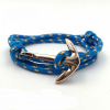 egyéb Kék Horgony Karkötő - Textil - Rosegold Dísz